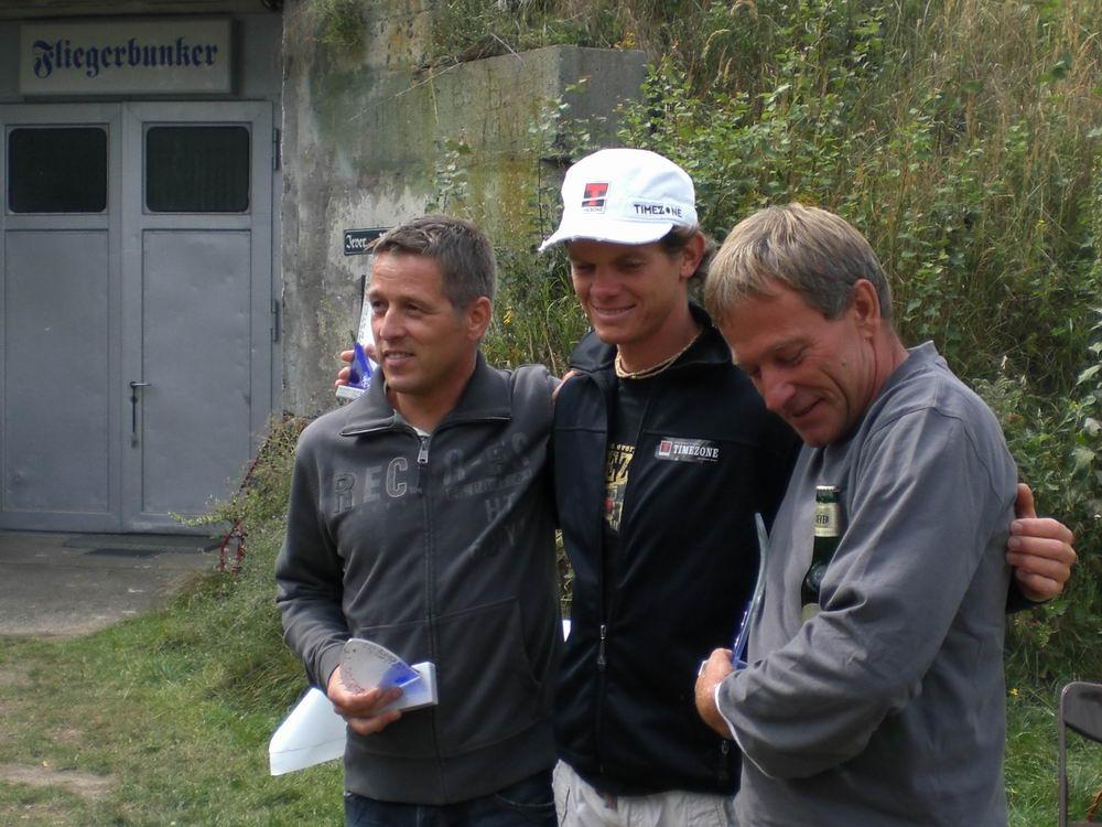 Dirk Ripkens, Primoz Gricar und Toni Raumauf. Die Gewinner der Deutschen Meisterschaft 2008